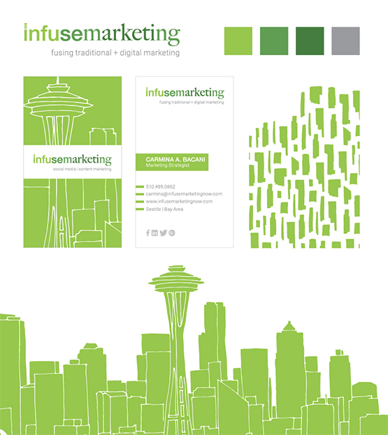branding, identity, brand cohesion, graphic design, social media marketing, Seattle, San Francisco Bay Area, business card, marketing sales collateral